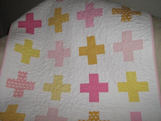 Baby Girl Cross Quilt