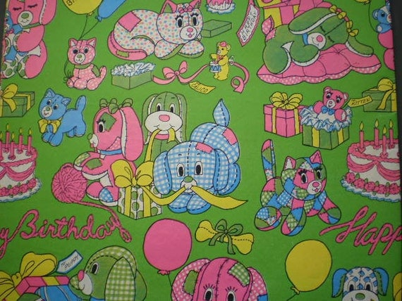 1970s Vintage  Unused Gift Wrapping Paper - 7 Designs