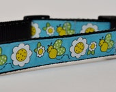 Large Butterfly & Sunflower Dog Collar