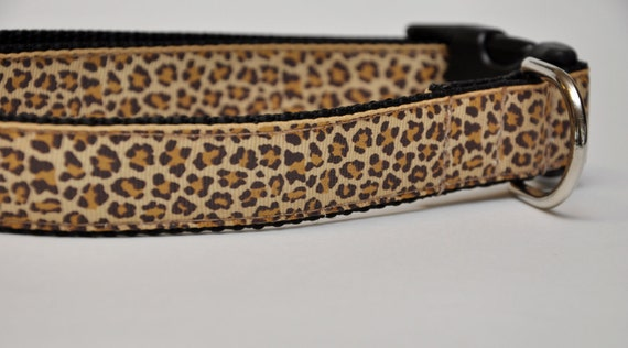 Items Similar To Large Leopard Print Dog Collar On Etsy