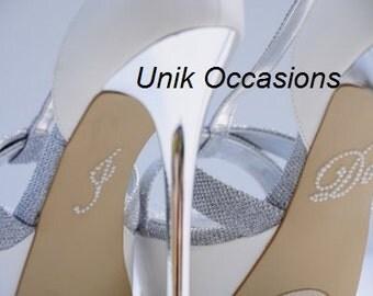 "Wedding Shoes Pearl ""I Do"" Shoe Applique Stickers White"