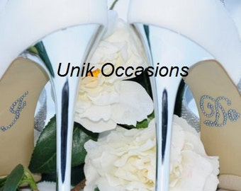 "Wedding Shoes Pearl ""I Do"" Shoe Applique Stickers Dark Silver"