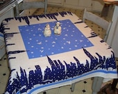 Sale! Classic Tablecloth - MANHATTAN SKYLINE circa 1933 Reissue - Free Shipping