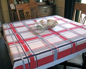 Rare Vintage Red White Blue Startex Tablecloth - 4th of July - Patriotic - Election Day