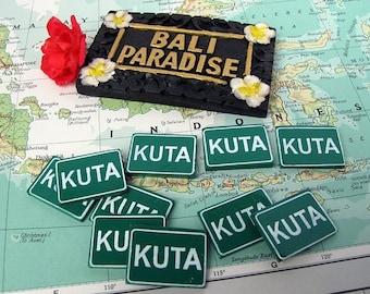 Kuta Mini Road Sign Scrapbook Word Tiles 6pcs