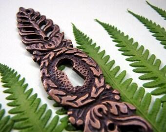 Daun Leaf Brass Keyhole Escutcheon
