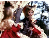 vanity  - small matted doll photograph
