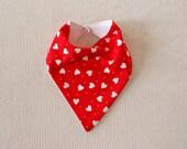 Red Heart Dribble Bandana