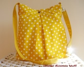 Waterproof Sunshine Yellow Bag / Medium  Handbag /  Diaper bag / Shoulder Bag / Cross body bag / Travel Bag with adjustable strap