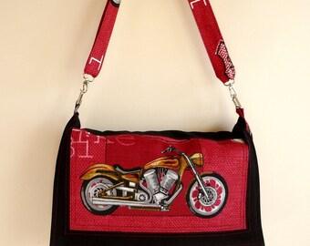 Waterproof Dark Red Messenger bag /Shoulder Bag/Laptop Bag / Diaper Bag / Travel Bag with Motor Bike Flap -Unisex