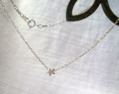 Shooting Star - Sterling Silver Necklace -  Free Shipping