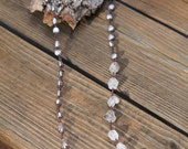 long grey pearl necklace