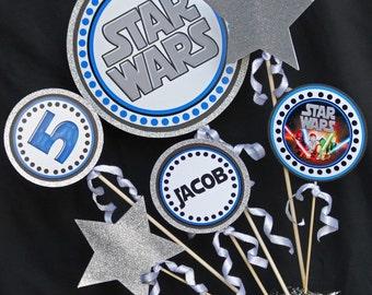 Star Wars Party Centerpiece | Star Wars Birthday Centerpiece | Star Wars Birthday Party Printable | Amanda's Parties To Go