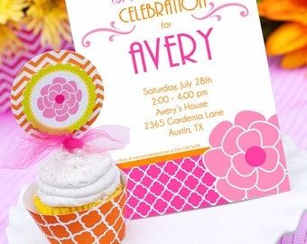 Garden Party Invitation | Garden Flower Birthday Invitation | Teen Birthday Invitation | Adult Birthday Invitation | Amanda's Parties To Go