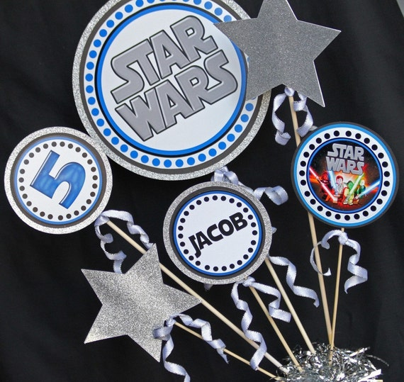 Star Wars Party Centerpiece | Star Wars Birthday Centerpiece | Star Wars Birthday Party Printable | Amanda's Parties To Go