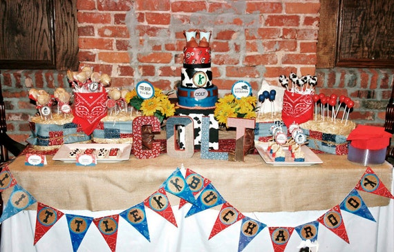 Cowboy Party Printable - Western Birthday - Party Set by Amanda's Parties TO GO