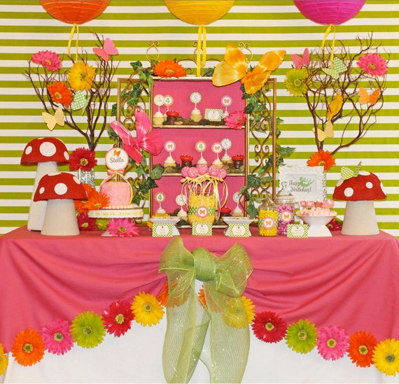 Fairy Birthday Party | Fairy Party Printables | Fairy Birthday Decorations | Butterfly Birthday | Girl 1st Birthday | Amanda's Parties To Go