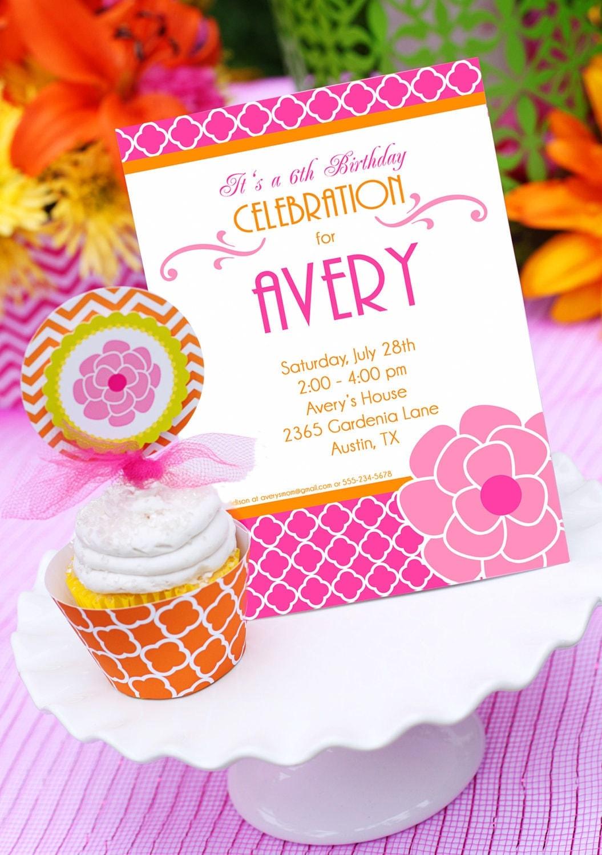 Garden Party Invitation Garden Flower Birthday Invitation – Flower Party Invitations