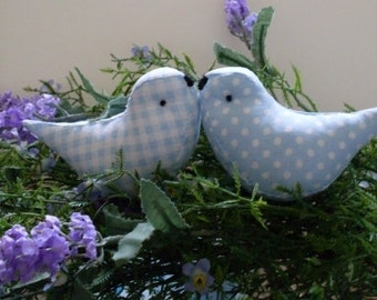 Love Birds Wedding Cake Toppers Baby Showers Blue Birds
