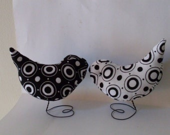 Circle Of Life Black and  White Love Birds  Cake Toppers All Occasions We Ship Internationally