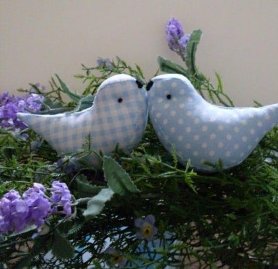 Love Birds Wedding Cake Toppers Baby Showers Blue Birds