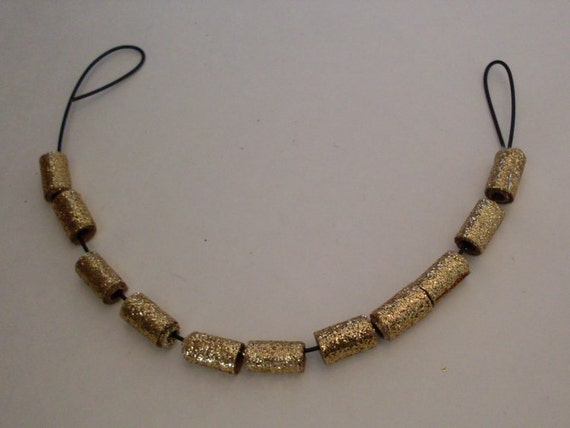11 Gold Textile Beads LJO Collection Jewelry