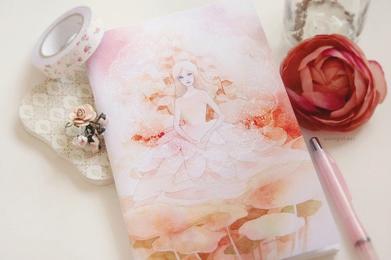 Gardenia Ruled Notebook (Salmon)