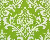 Chartreuse Ozborne Damask Design Custom Shower Curtain