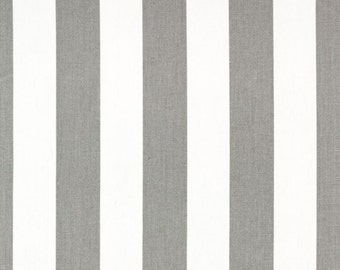 Custom Storm Gray and White Canopy Stripe Shower Curtain