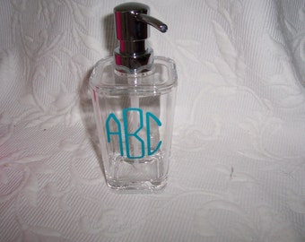 acrylic soap lotion dispenser monogrammed gift wrapped