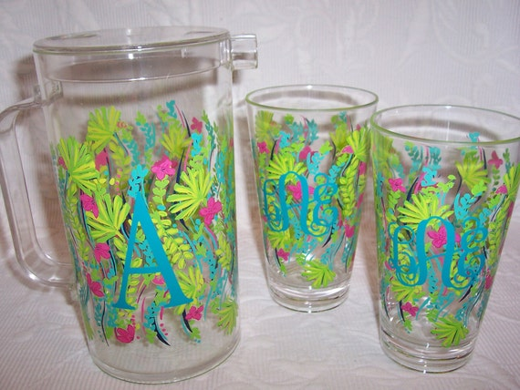 SALE Personalized Lilly Pulitzer Acrylic Tumblers SET of 2 in Nice to See You