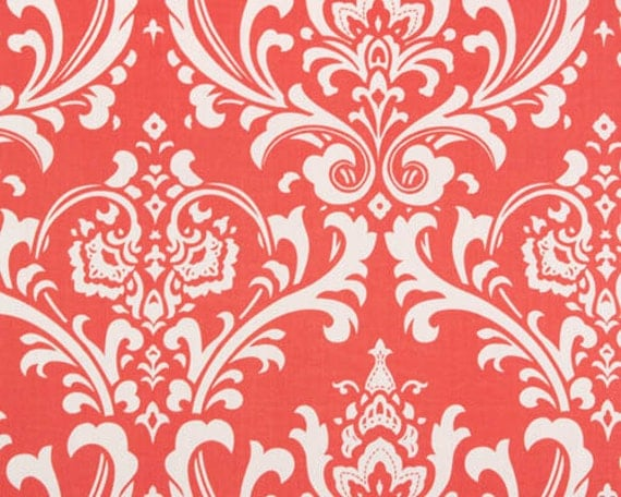 Custom Ironing Board Cover Ozborne Coral and White Damask design