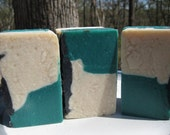 Green Irish Tweed Soap - Homemade Bar Soap - Spicy-Sweet Scented Handmade Soap Cold Process - LAST BAR