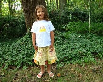 Sale on Halloween skirt & top for little girls size 5