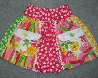 Sale - Colorful Gidget pocket skirt, size 5
