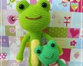 2 Frogs Amigurumi Crochet Pattern by Huggieshop on Etsy