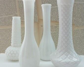 Vintage Incised Milk Glass 'I Dream of Jeannie' Vase (Treasury Featured Item)