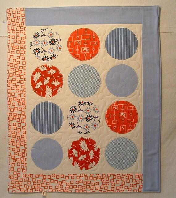 modern fleece baby quilt, crib blanket, applique stroller blanket, play mat in red white and blue