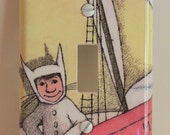 Where the WIld Things Are Max Sendak Childrens Resin Switchplate Light Cover