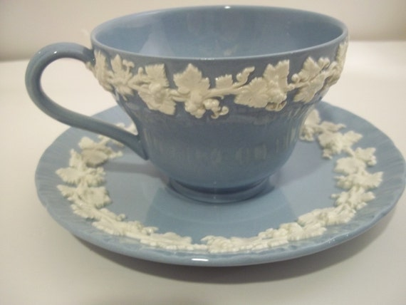 Blue Wedgewood Cup And Saucer 22