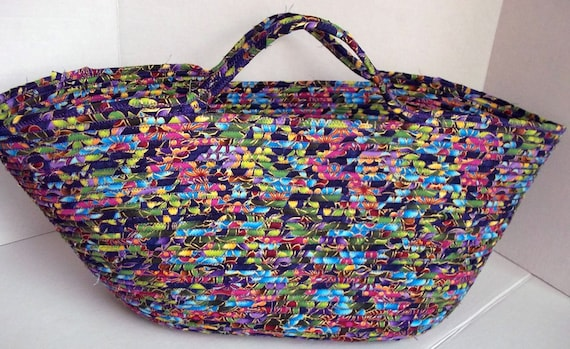 Large Handmade Basket, Custom Order Your Own Hand Wrapped and Coiled Fabric Basket, Storage Organizer