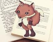 Fox pocket size bookmark