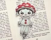 Mushroom pocket size bookmark