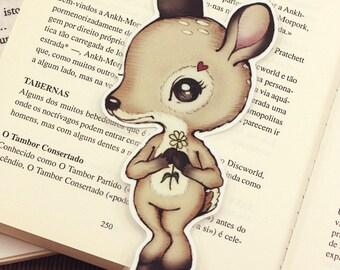 Deer pocket size bookmark - made to order