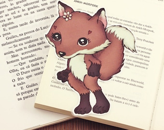 Fox - pocket size bookmark - made to order