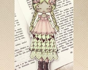 Mori Girl - bookmark - made to order