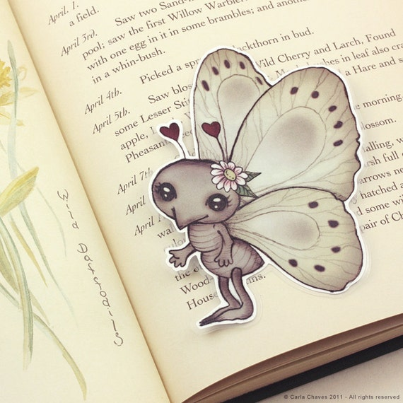 Insect pocket bookmark - made to order
