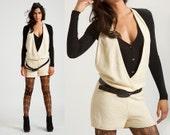 SALE Summer  jumpsuit / women romper /one piece / in ivory  knit