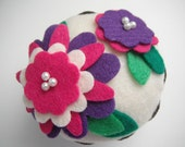 Felt Flower Cupcake (Pink/Purple) - Home Decor, Gifts, Bridal Shower, Pin Cushion, Birthdays, Parties, Thank you Gifts