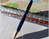Elegant Blue Electric slimline Ink Pen with 24k Fittings -- makes a classy gift